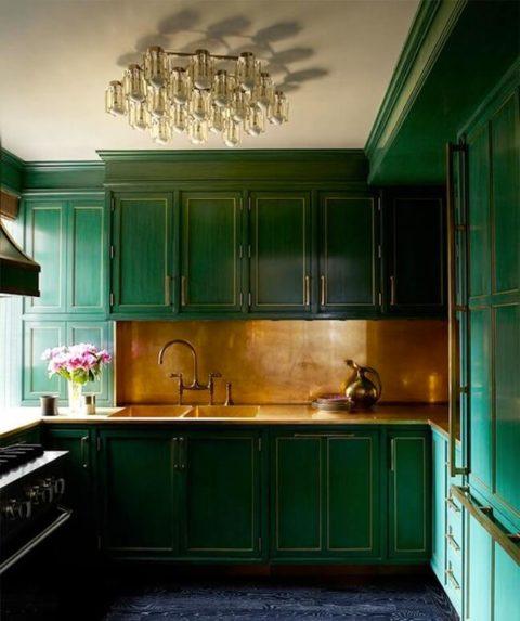 Как использовать зеленый цвет в интерьере?