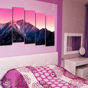 Модульная картина в розовых тонах