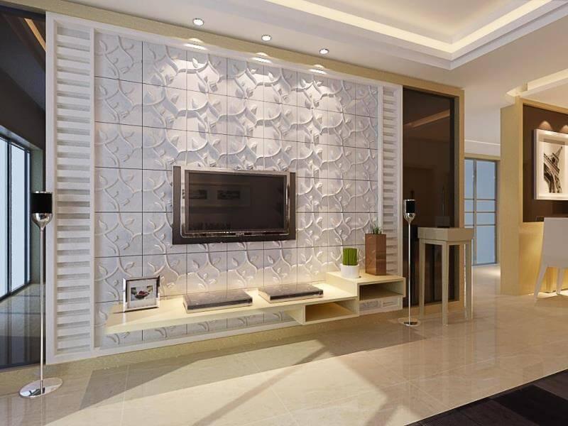 Бамбуковые 3d панели для стен в интерьере