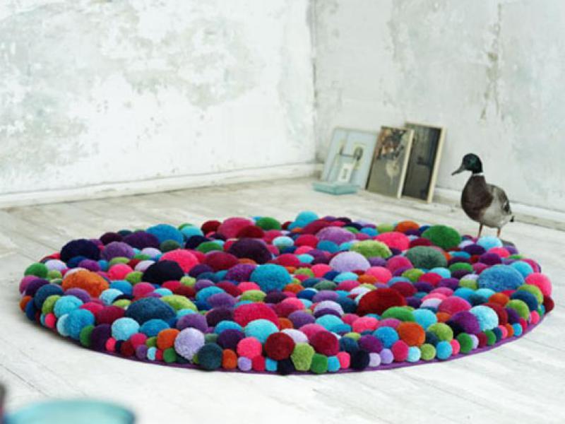 сделать круглый коврик