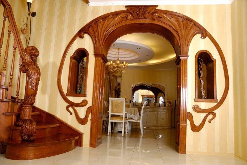 арка из дерева