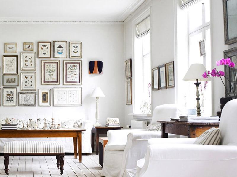 Гостиная в белом цвете
