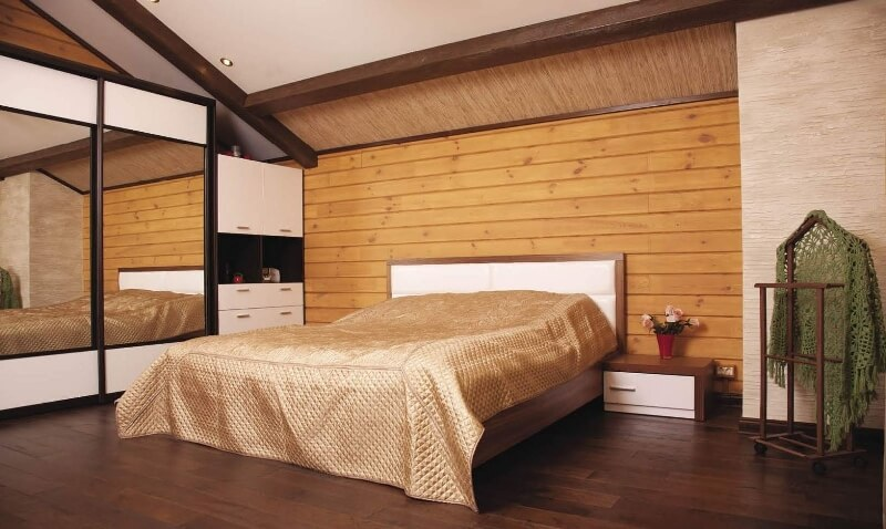 Вагонка в спальне