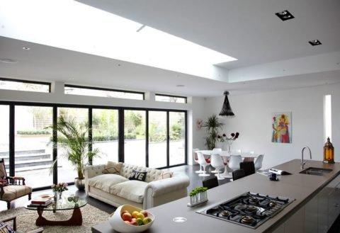 Кухня-гостиная: современный дизайн необычной комнаты