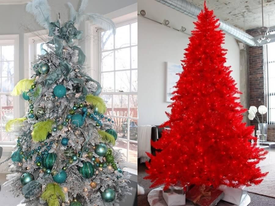 Цветные новогодние елки