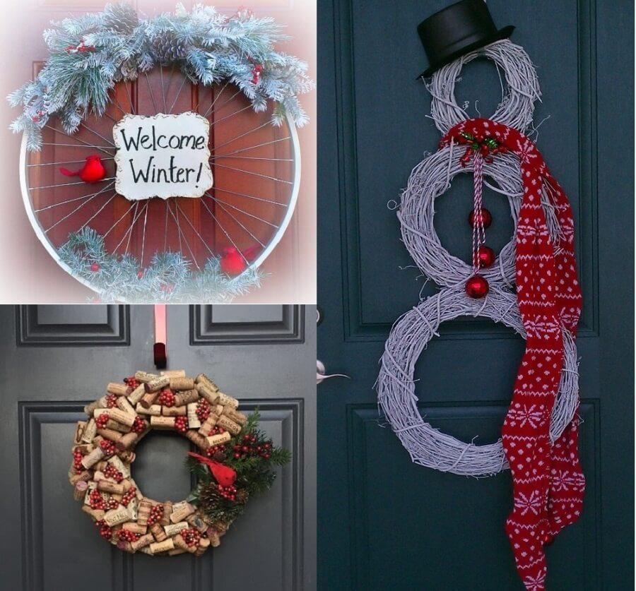 Новогодние венки на двери