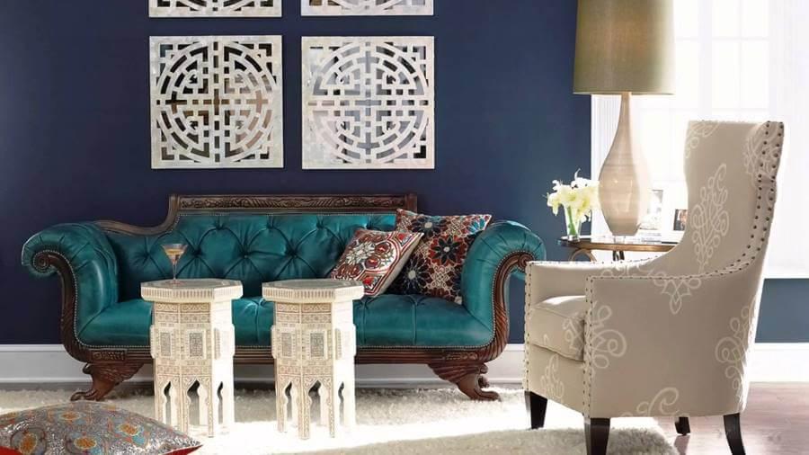 Синий цвет в интерьере квартиры