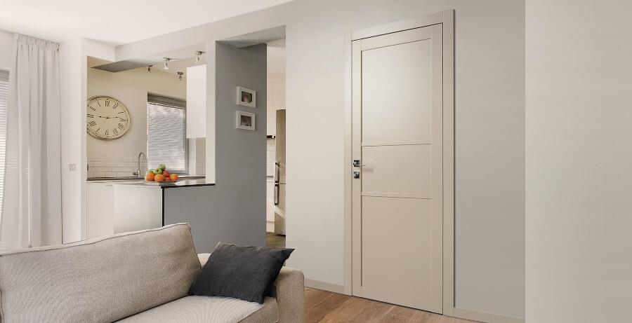 Белые двери в стиле хай тек