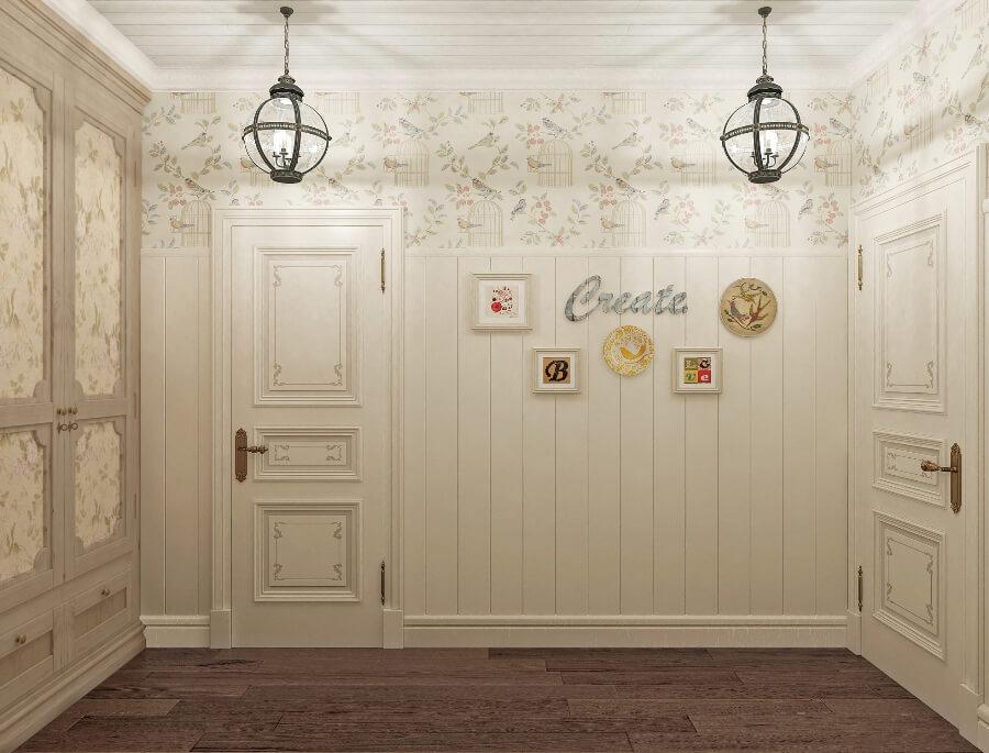 Белые двери в стиле прованс