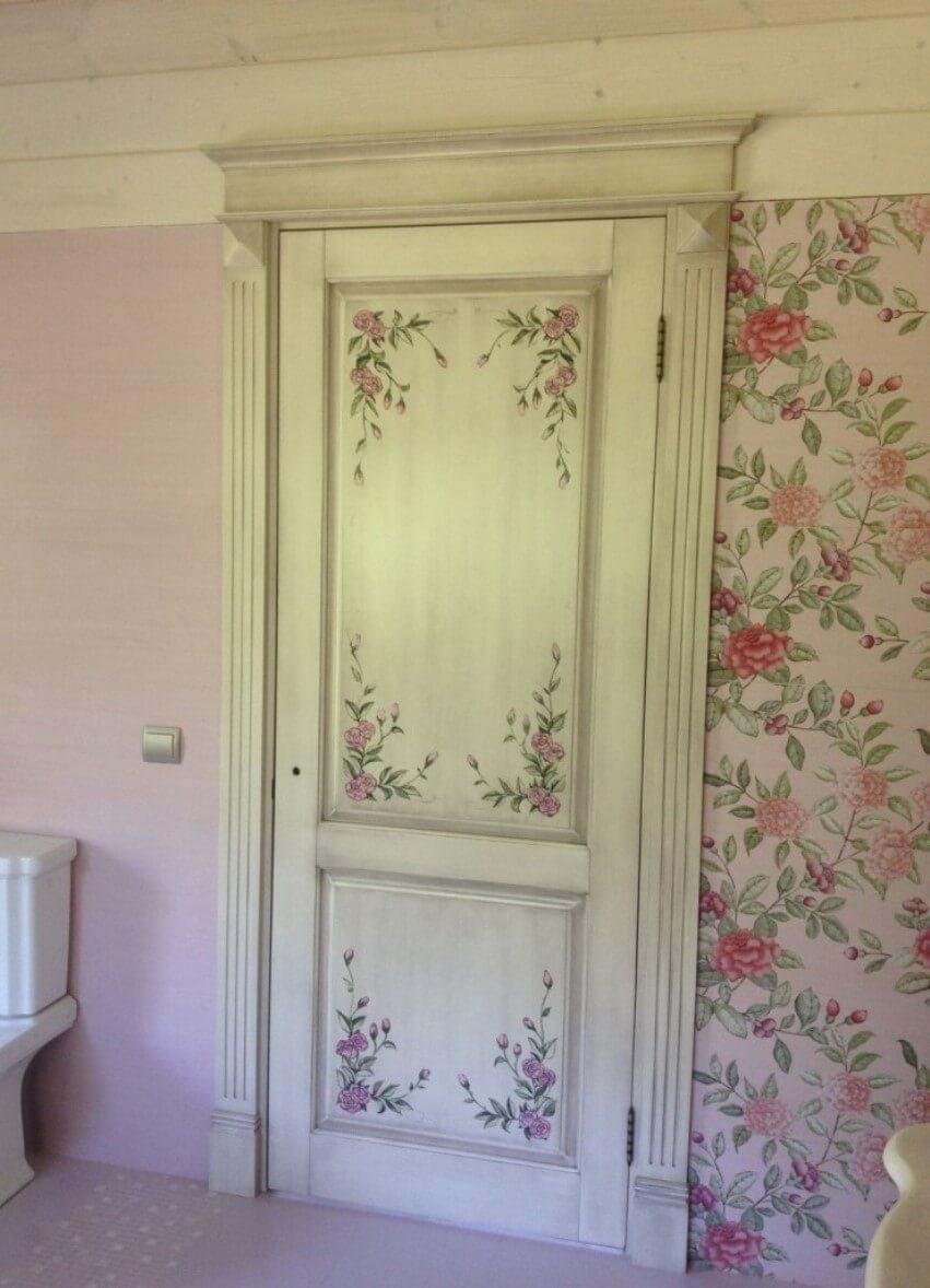 Белые двери в стиле шебби шик