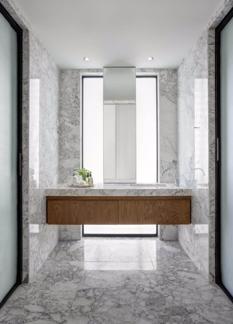 Дизайн ванной в стиле минимализм