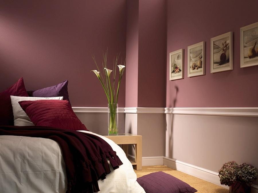 Цвет марсала в интерьере спальни