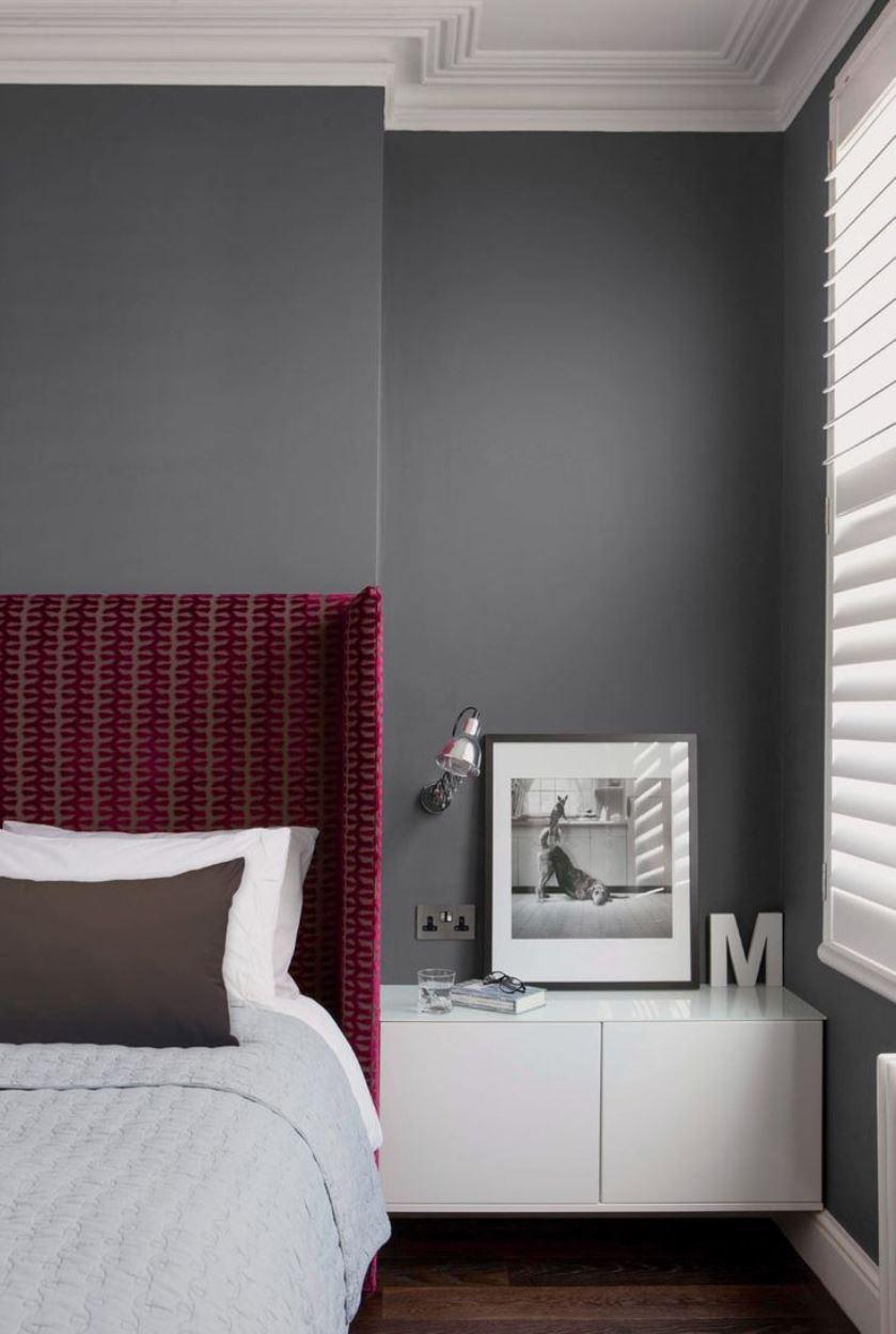 Цвет марсала в спальне
