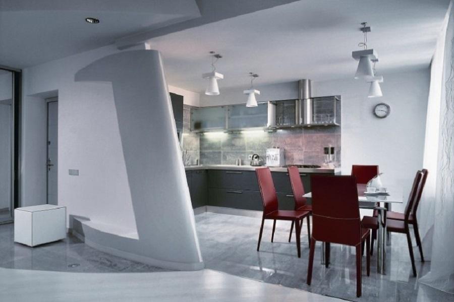 Цвет марсала в интерьере кухни