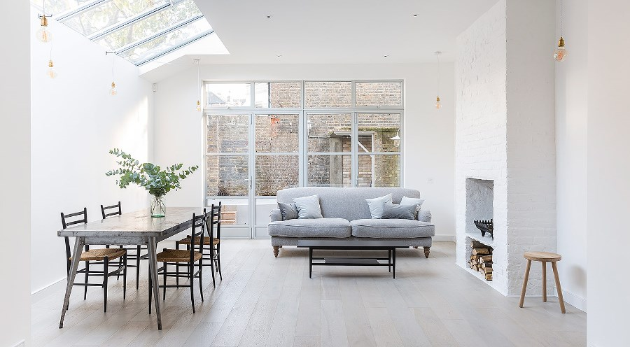 Белый цвет в интерьере дома