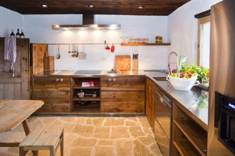 Стиль шале интерьере кухни