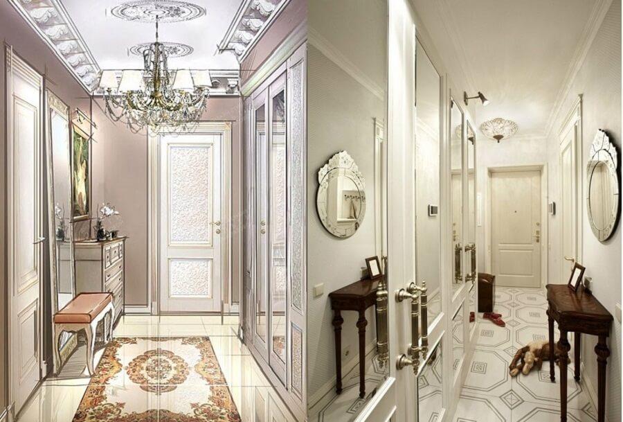 Классический французский дизайн прихожей