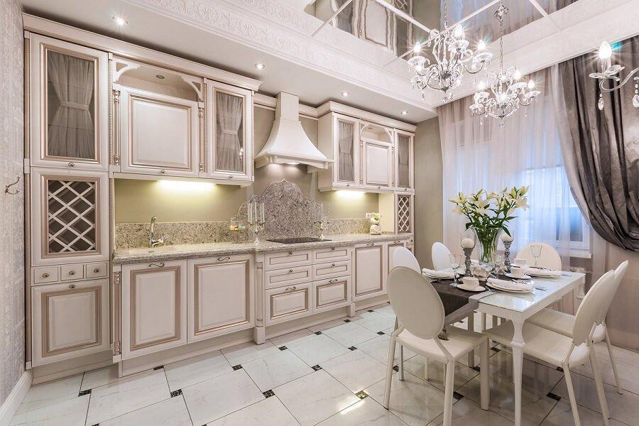 Классический французский дизайн кухни
