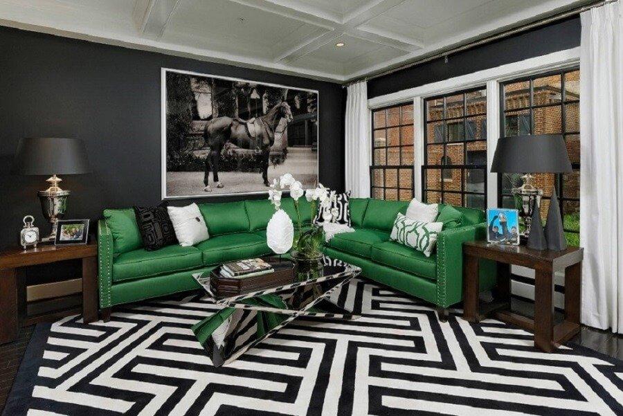 Ковер в интерьере современной гостиной