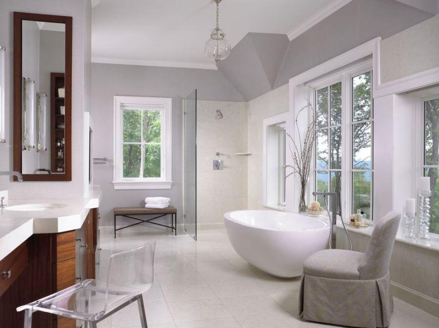 Идея интерьера большой ванной