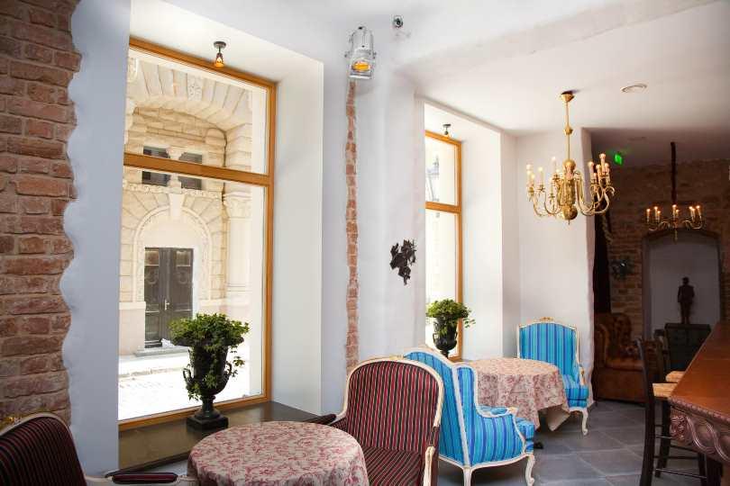 Интерьер отеля в Риге Hotel Justus