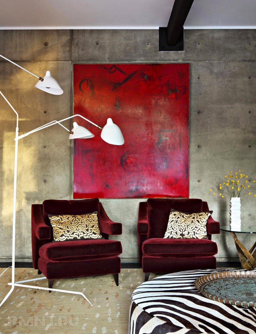 Бархатная мебель в интерьере