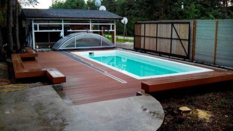 Как правильно обшить бассейн террасной доской?