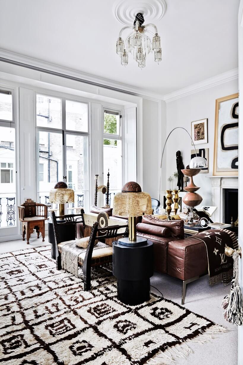 Стиль бохо в интерьере квартиры в Лондоне