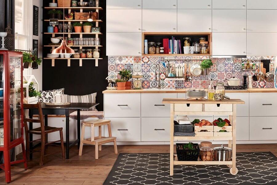 Стиль бохо в интерьере кухни