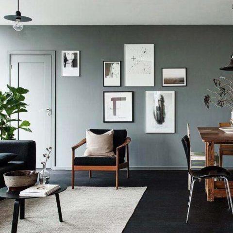 Черный пол в интерьере: материалы, стили, сочетания