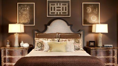 15 идей для спальни шоколадного цвета