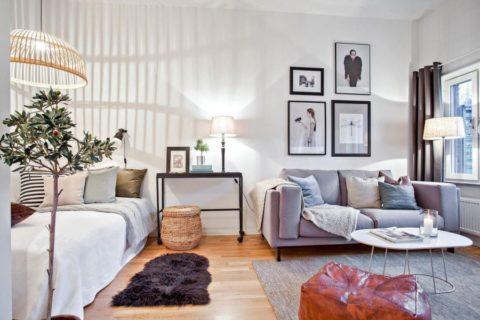 Как оформить интерьер однокомнатной квартиры