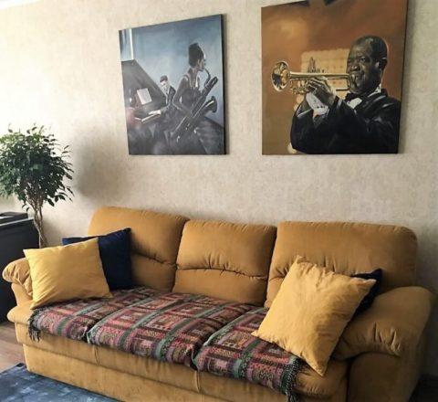 Картина, как важный элемент декора гостиной