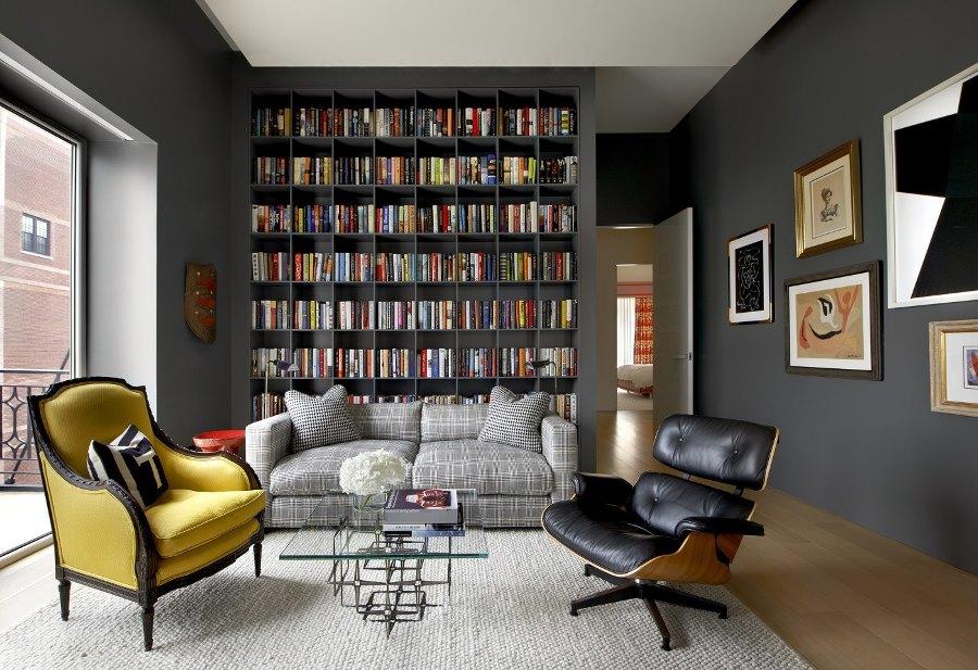 Книжный стеллаж в интерьере