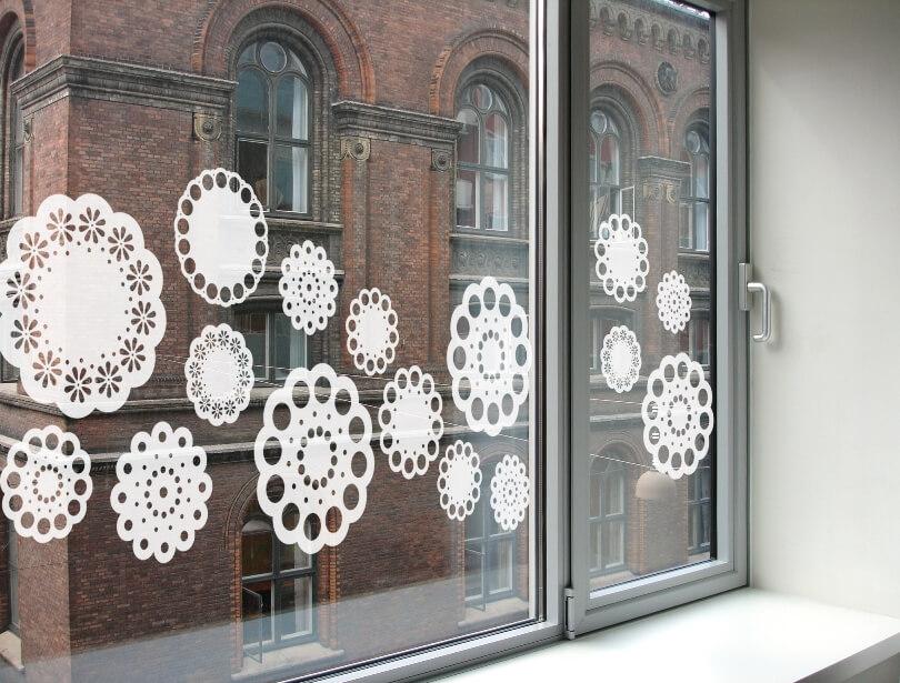 Украшения из бумаги на окна
