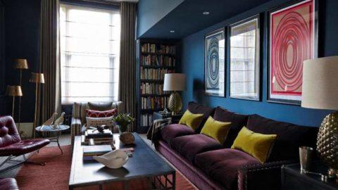 Современные идеи оформления стен в гостиной