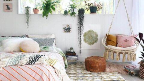 20 вдохновляющих интерьеров спальни с комнатными растениями