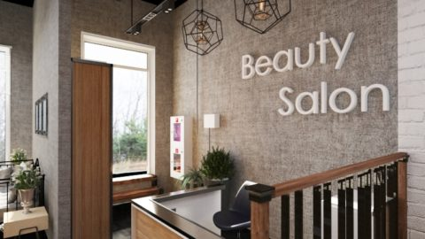 Дизайн салона красоты в стиле лофт от Caravita Studio