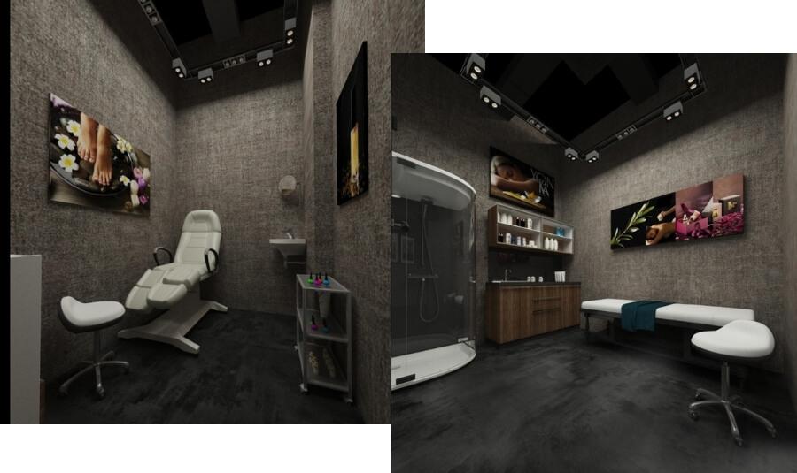 Дизайн-проект салона красоты от Caravita Studio, косметологический кабинет