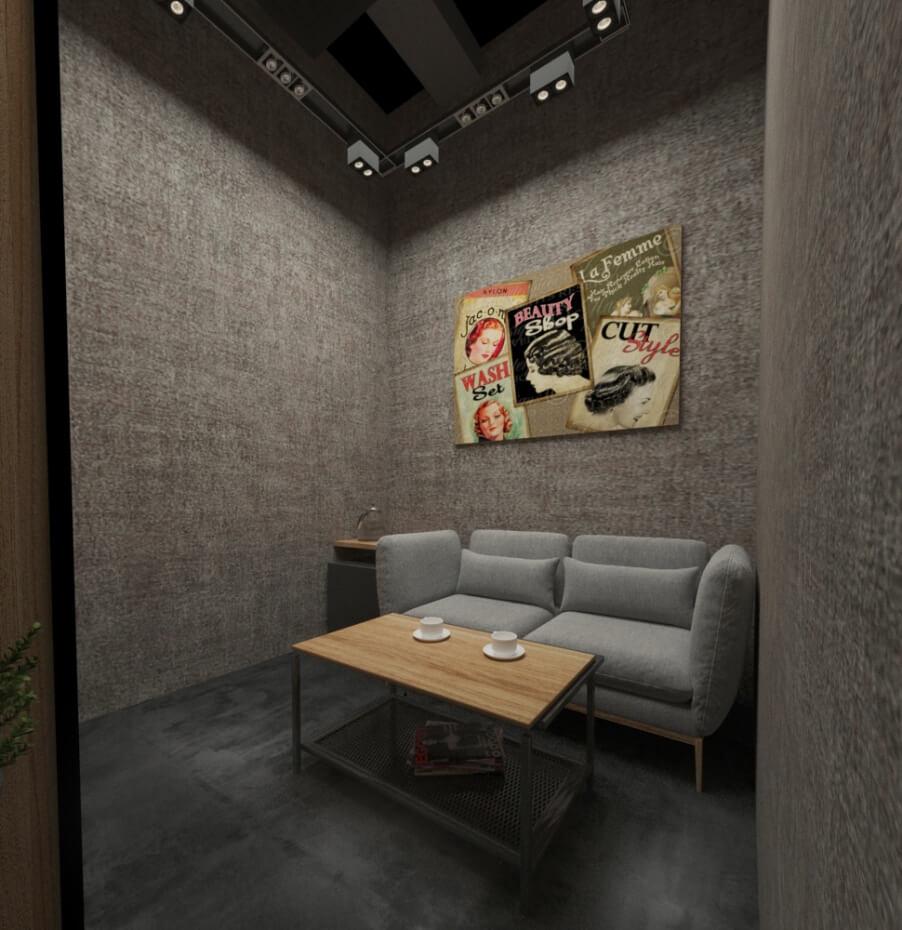 Дизайн-проект салона красоты от Caravita Studio, комната для персонала