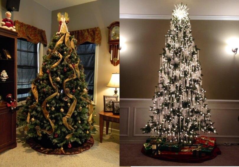 Вертикальное украшение новогодней елки