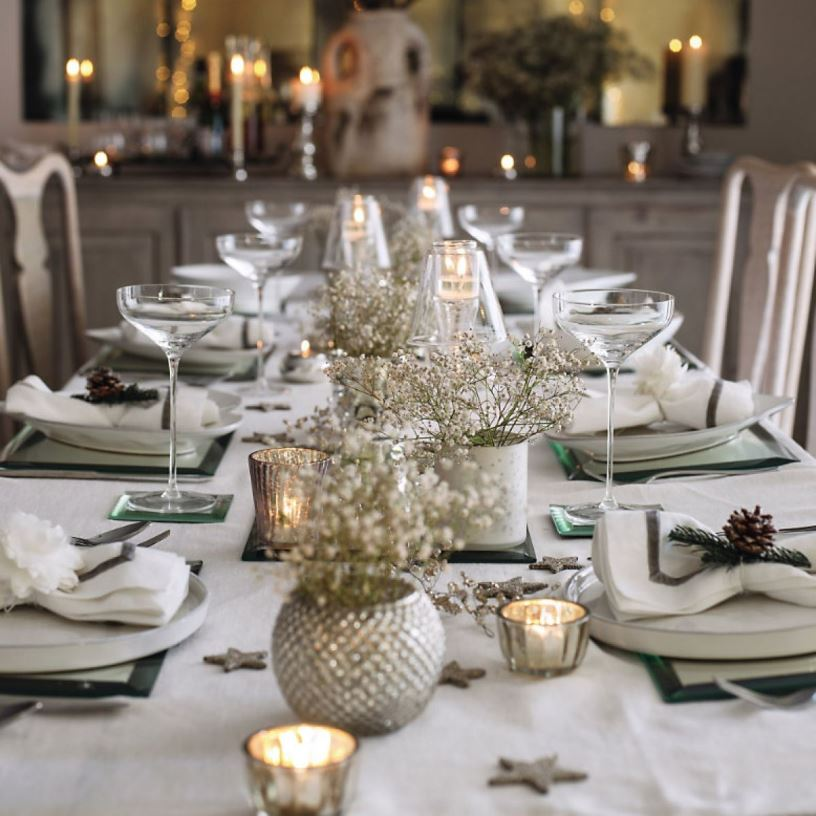 Новогодняя сервировка стола