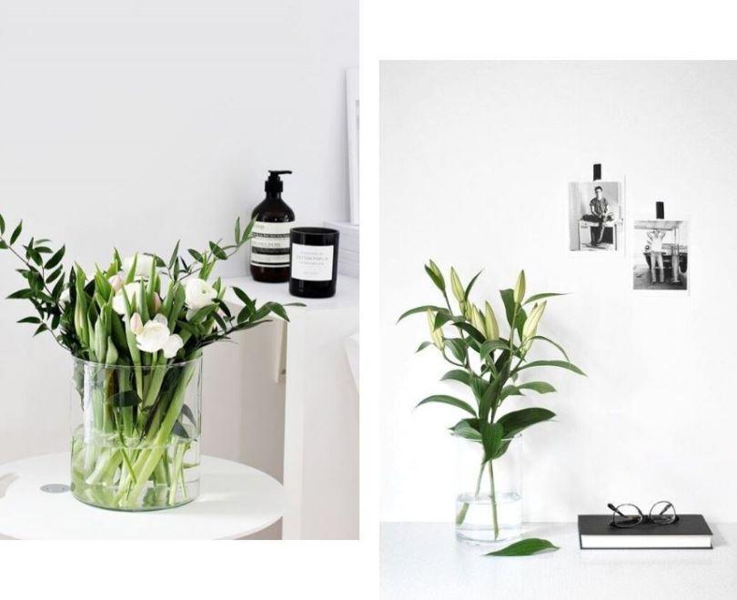 Свежесрезанные цветы в интерьере