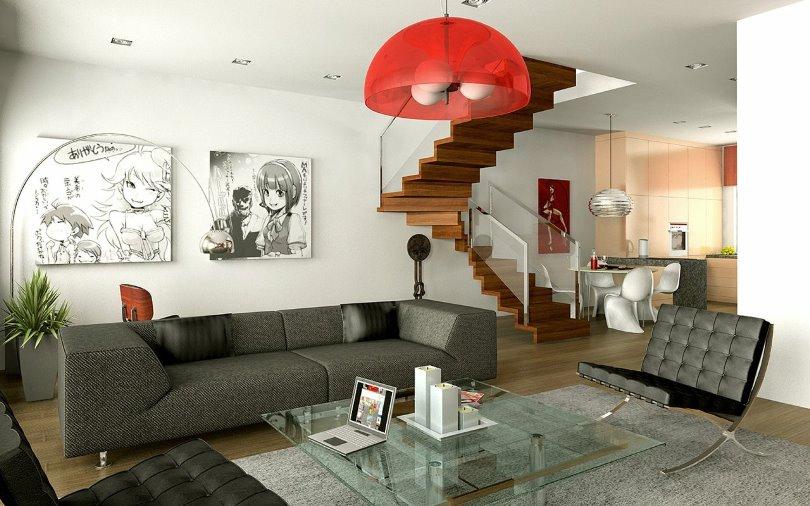 Дизайн интерьера в стиле Манга