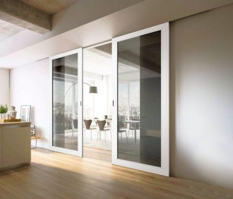 Зонирование пространства в офисе при помощи раздвижных перегородок