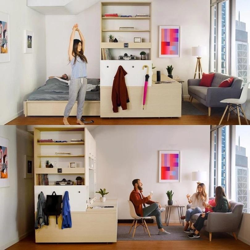 Автоматическая мебель для студии