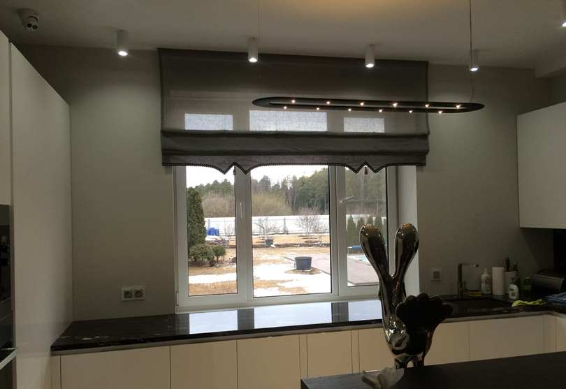 Автоматические шторы в интерьере