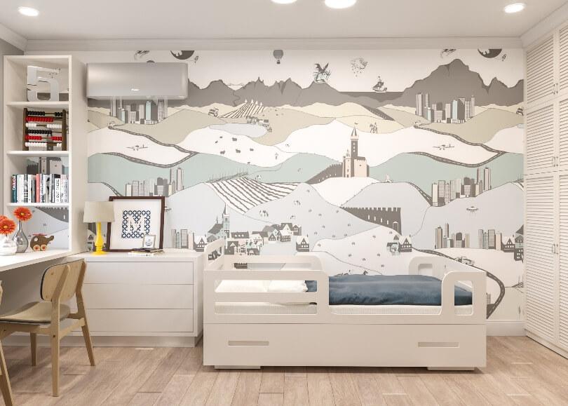 Стена с рисунком