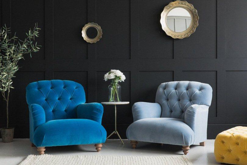 Синее и голубое кресло