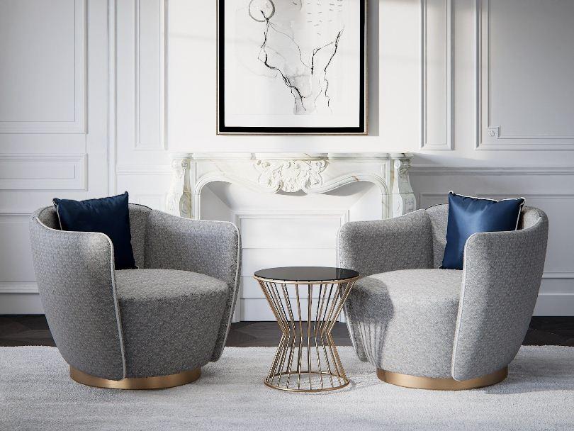 Круглый столик и два кресла